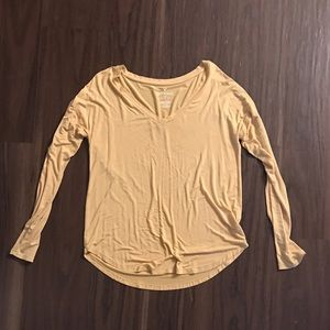 Soft and sexy long sleeve v-neck